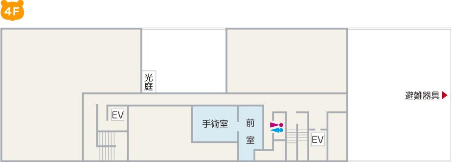 井上病院 院内案内図4F